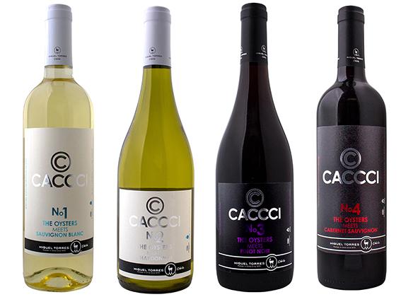 牡蠣に合うワインCACCCI ボトルシリーズ