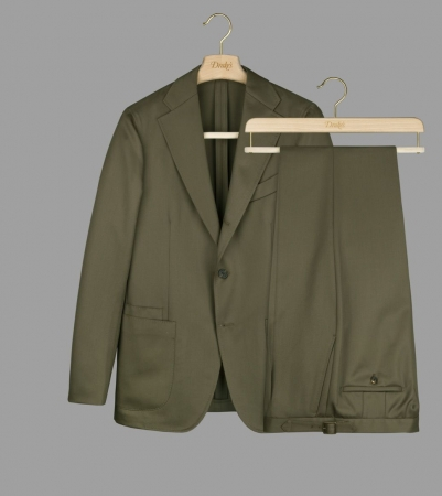 Drake's with VBC Olive Wool Covert Suit ¥189,000+TAX
