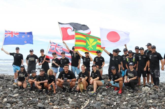 ハワイ島カミロポイント清掃1