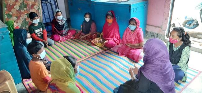 地域の衛生問題に取り組む 子ども衛生グループの会合の様子