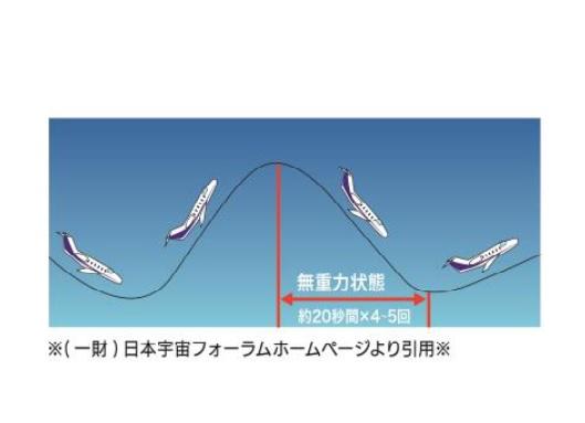 <無重力状態再現時の飛行イメージ>