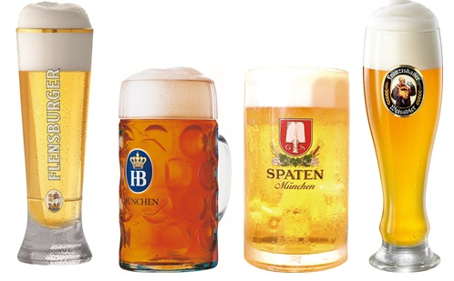 ドイツのオクトーバー公式ビールがずらり