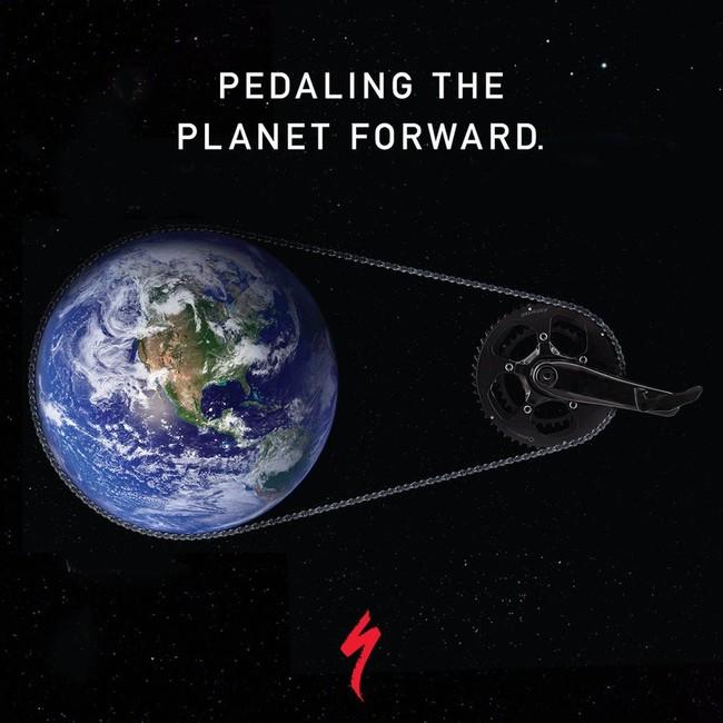 ペダルで地球も前に動かそう