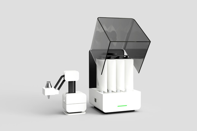 自社開発の食品3Dプリンター「Topology」