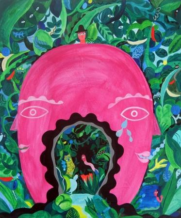 「El yo y el Yo」 2019 60×50×2 cm キャンバスにアクリル絵具