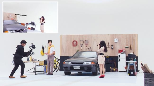 手持ちカメラで撮影するシーンは、モデルとスタッフの息を合わせた撮影となりました。