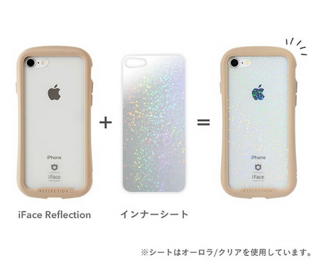 iFace Reflectionケースに挟むだけで可愛く変身