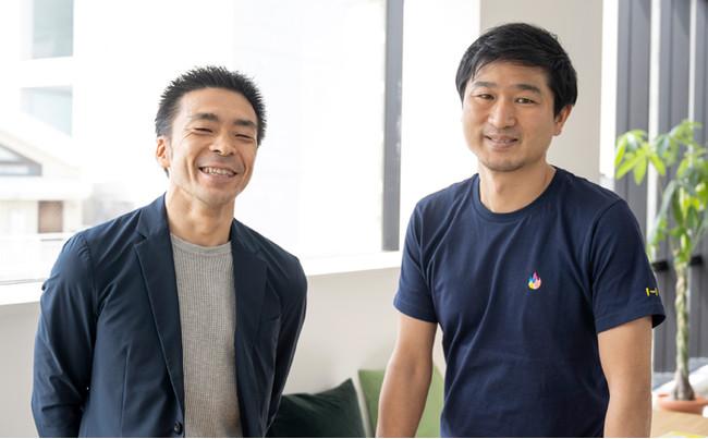 ▲右:代表取締役会長 樋口 敦士 / 左:代表取締役社長 水島 育大