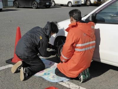 【JAF奈良】タイヤチェーン取付け講習会を開催!