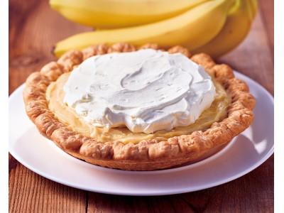 濃厚なバナナの甘みとバタースコッチプリンのコクがたまらない限定パイ「Banana Butterscotch Pudding Pie」が登場!(バナナバタースコッチプディング)