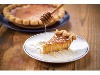 濃厚なはちみつの香りと塩味の絶妙なバランスがクセになるパイ「Salted Honey Custard(ソルトハニーカスタード)」が登場