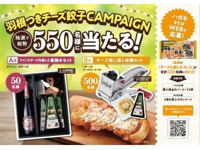 抽選で総勢550名様に「チーズを楽しむセット」が当たる!「大阪王将 羽根つきチーズ餃子キャンペーン」を開催