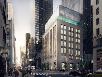 ティファニー、改装中のニューヨーク本店の計画を一部公開。 クラシカルなニューヨーク本店の上階は、コンテンポラリーなガラス張りの構造へ。