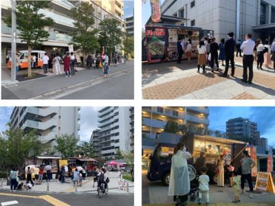 京阪電車関目駅前に移動販売車を出店します