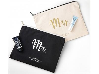 ワタベウェディング×花王がリゾ婚カップルの'きれい'を応援限定コラボレーション「Mr.&Mrs.ペアポーチセット」とソフィーナ「美白美容液」&サクセス「シェービングジェル」のサンプルをご提供!