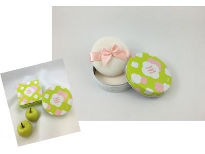 6 月機内販売 新商品登場!!『ソラ女子 すっぴんパウダー』 グリーンアップルの香り