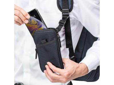 バッグにスマホケースをプラス!3通りの取り付け方ができるスマホポーチを5月8日発売