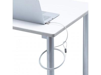 薄型のノートパソコンに最適な、超小型シリンダ錠とワイヤー一体型のセキュリティを発売。