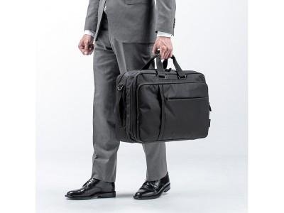 短期出張に最適な衣類収納スペースを搭載した3WAYビジネスバッグを6月17日発売