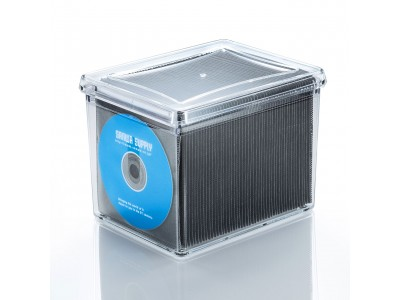 ブルーレイ・DVD・CDを大量に収納できる、不織布ケース付き収納ボックスを発売。