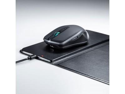 Qi対応ワイヤレス充電機能付きマウスパッドとQi対応充電式ワイヤレスブルーLEDマウスを発売。
