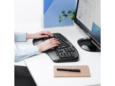 キーがV字型に配置された自然な姿勢のまま使えるエルゴノミクスキーボードを10月16日発売