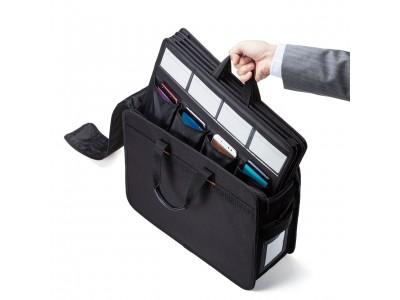 スマートフォン20台をまとめて保管・持ち運びできるBOX型バッグを発売。