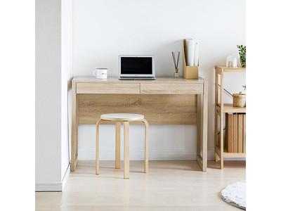 デザインも機能も備えたやさしい木製デスクが再入荷!