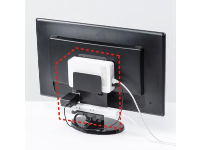 小型パソコンやハードディスクをディスプレイ裏に設置できるVESA取り付けホルダーを発売