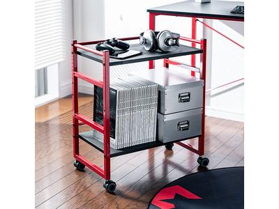 モニター下に収納をプラス!ナナメにもなる棚板装備のファイルワゴンを1月27日発売