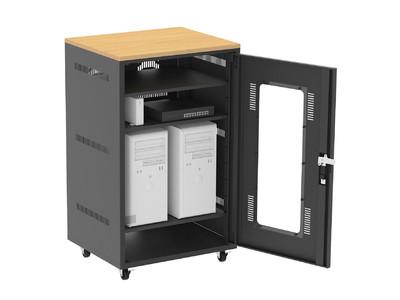 NASやルーター、LANハブなどの収納に便利な扉付き収納ボックスを発売