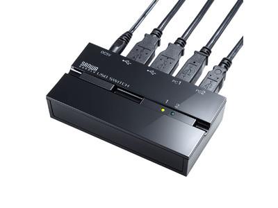 複数のパソコンでキーボード・マウスなどのUSB機器を簡単に切り換え・共有できるUSB切替器を発売