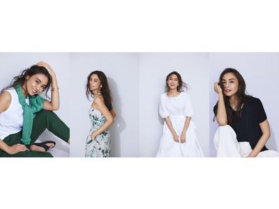 バナナ・リパブリック、モデル滝沢眞規子さんが提案する最旬サマースタイルを公開