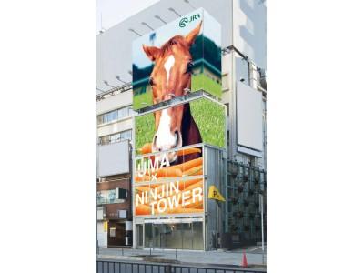 """都心でニンジン収穫?馬ロボット?謎の""""黒ニンジンジュース""""も登場?「馬」と「ニンジン」をテーマにした『UMA×NINJIN TOWER』が表参道に出現!"""