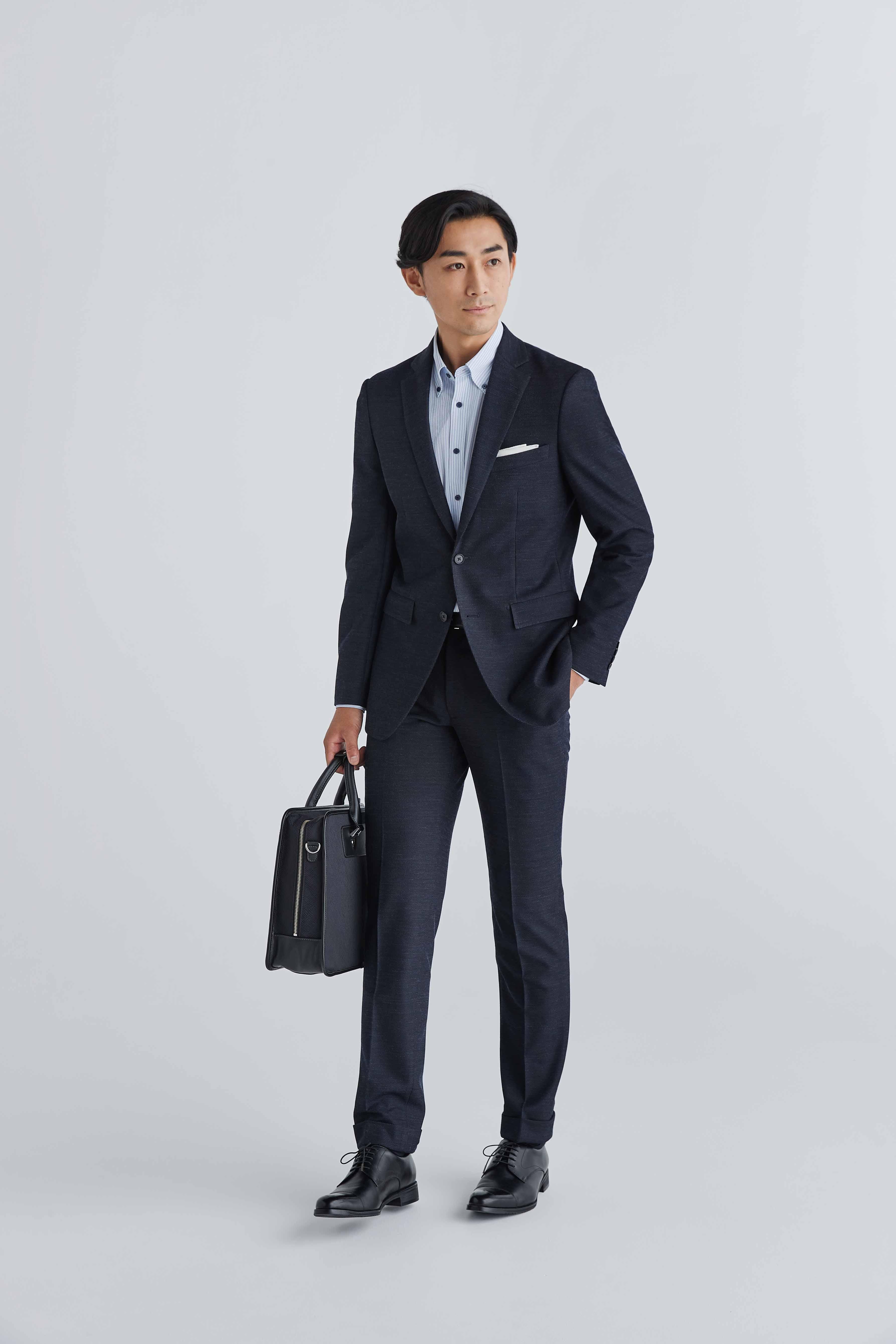スーツでありながらジャージー素材ORIHICA初「スマートジャージースーツ」登場