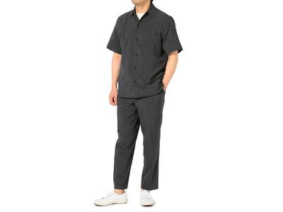 話題の「パジャマスーツ」に続く新提案同素材のシャツとパンツのセットアップ「シャツパンスーツ」新発売!~ワンマイルウェアとして程よいきちんと感を実現~