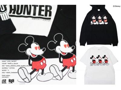 数量限定!<ミッキーマウス>デザインのTシャツ・フーディ『×BOUNTY HUNTER <MICKEY>』2019年6月13日(木)より予約販売開始
