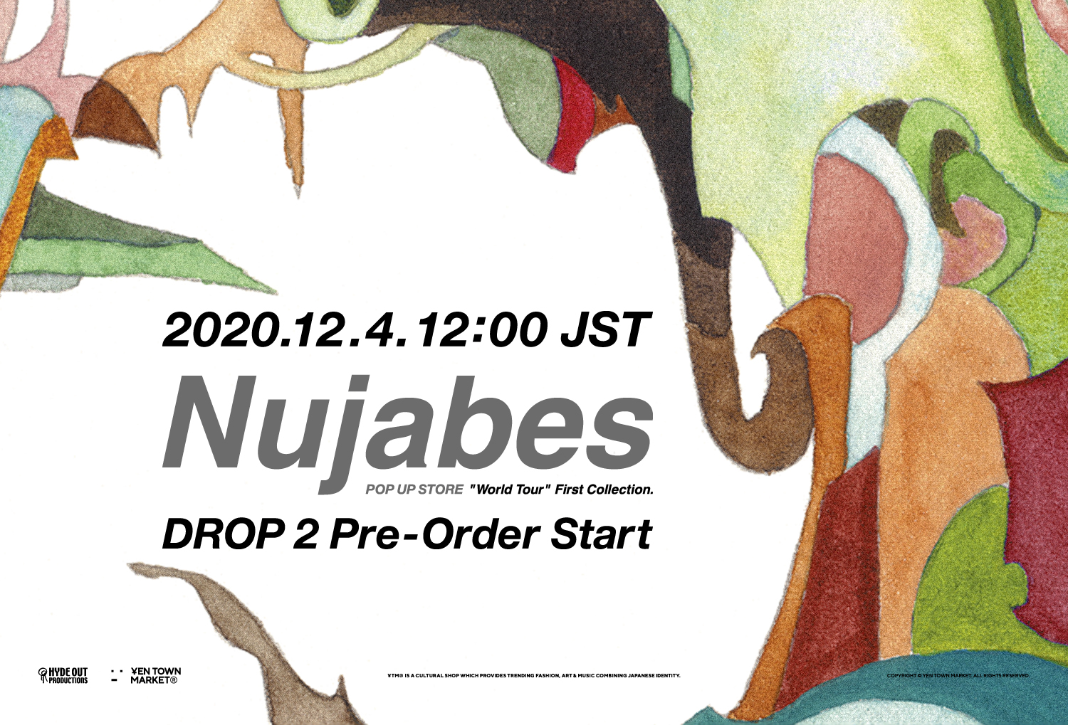 Nujabes Official Pop Up/DROP 2はアルバム「metaphorical music」フィーチャー! 2020年12月4日(金)よりスタート