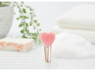 「ハート型のブラシ」×「花柄のパッケージ」が大切な人へのギフトにぴったり 極上の肌触りが忘れられない、職人手作りの最高級洗顔ブラシ「熊野筆 フェイスウォッシュブラシ」発売
