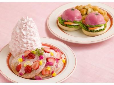 Eggs 'n Thingsから春らしいピンク色のメニューが登場!「いちごと桜ホイップのパンケーキ」「ビーツソースのピンクベネディクト」2019年3月22日(金)~4月25日(木)期間限定販売