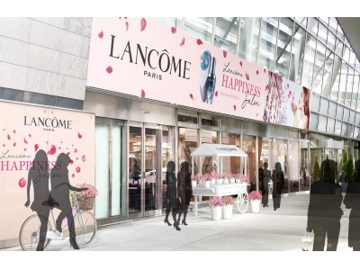 期間限定イベント「ランコム ハピネス サロン」 ローズに彩られたパリの街が六本木ヒルズに出現。(3月7日(木)~3月10日(日))