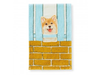 柴犬がじーっと見てます!「すき間からのぞく柴犬タオル」がフェリシモYOU MORE!から誕生