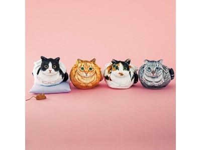 キュッと結ぶとまるくなる「猫のまんまるきんちゃく」がフェリシモ『YOU MORE!』から誕生