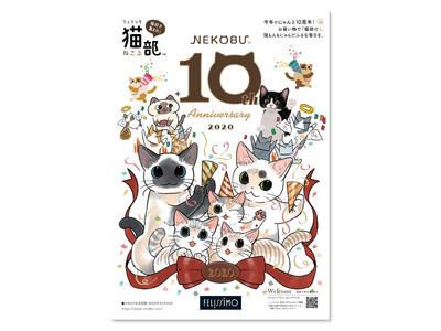 「フェリシモ猫部(TM)」創部10周年を記念して「10周年記念カタログ」を発刊!猫まみれなメモリアルグッズも登場!