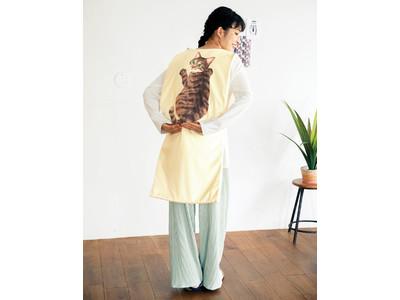 猫をおんぶしてあったまろ♪ 背負う防寒具「あったかおんぶ猫ねこ」が「フェリシモ猫部(TM)」から新登場