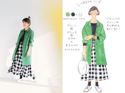 イラストレーターの堀川波さんとコラボした「色を楽しむ大人のコート」「モノトーンコーディネイトセット」がフェリシモのファッションブランド「Live in comfort」から新登場