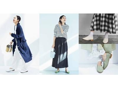 モデル浜島直子さんとのものづくり「はまじとコラボ」シリーズにNo.125「軽やか麻混ロングコート〈ネイビー〉」、No.126「ダブルガーゼガウチョパンツ」が新登場