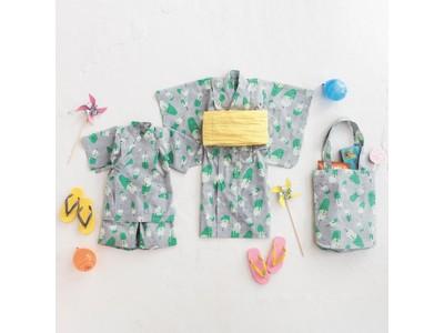 Subikiawa食器店×フェリシモLive in comfortのコラボシリーズに新作、クリームソーダ柄のオリジナルテキスタイルの浴衣、じんべい、八分丈ガウチョパンツ、トートバッグが新登場