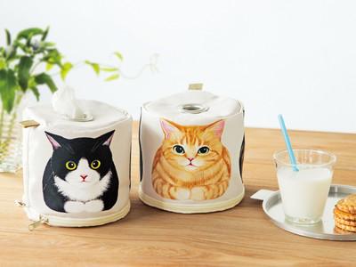 お部屋の中でもロールペーパーをおしゃれに置ける「香箱座り猫」モチーフのホルダーが「フェリシモ猫部(TM)」から新登場