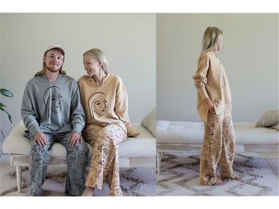 フィンランドの豊かな暮らしから着想を得たアートをまとう……、サーナとオッリのふたりが想う理想郷を描いたルームウエアが、フェリシモ「SAANA JA OLLI for kraso」から新登場